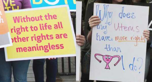 Opposing Groups March Over Abortion Laws