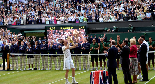 Andy Murray claims second Wimbledon title after beating Milos Raonic