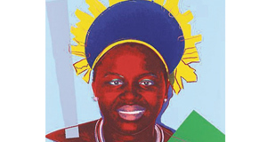 Queen Ntombi Twala of Swaziland, from Warhol's ReigningQueen's series, 1985, at Whyte's auction. Est: €4,000-€5,000.