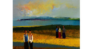 Foreshore with Figures by Dan O'Neill from Morgan O'Driscoll's art auction at the RDS next Monday evening (€30,000-€50,000).