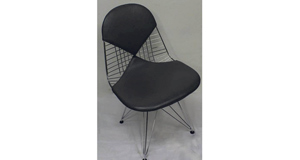 One of a set of six chrome chairs, (Eames Bikini type), by Haus, London at Keighery's in Waterford next Monday (€400-€600).