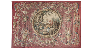 The Marie-Antoinette tapestries also include Le Colin Maillard (Blind Man's Buff).