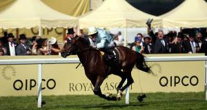 Arab Spring ridden by Ryan Moore wins the Duke of Edinburgh Stakes. Picture: Steve Parsons/PA Wire