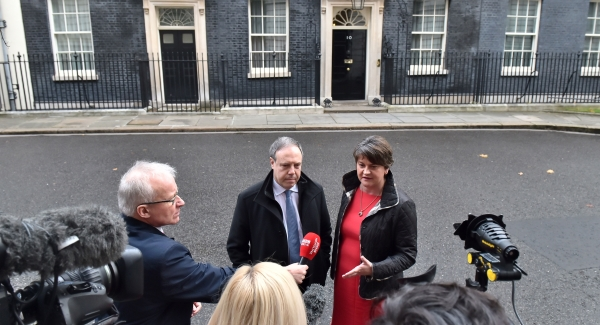DUP's Arlene Foster warns against Brexit 'blackmail' over Irish border