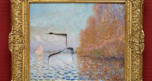 The Claude Monet painting 'Argenteuil Basin with a Single Sailboat', which was badly damaged at the National Gallery in June 2012.