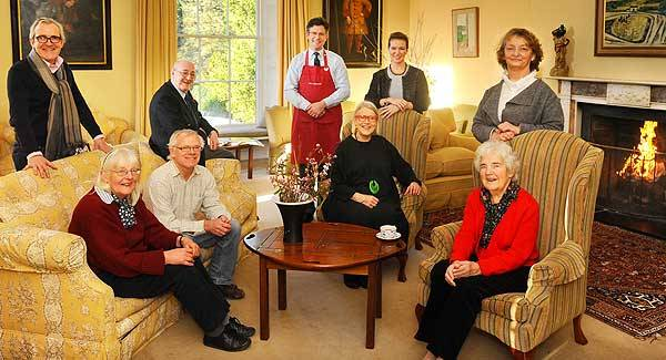 The people behind Ballymaloe, from left, Rory O'Connell, Tash Harty, Rory Allen, Joe Cremin, Colm McCann, Darina Allen, Rachel Allen, Myrtle Allen and Hazel Allen.