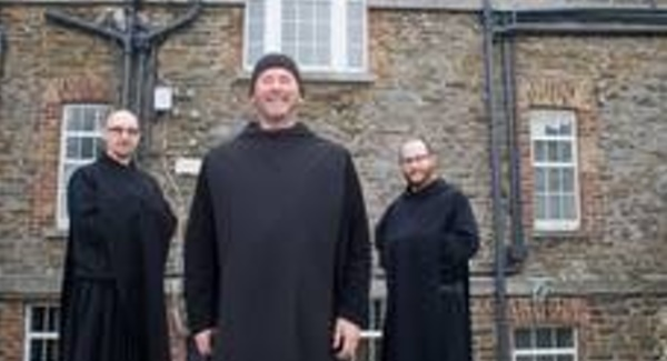 Brother James, Dom Mark Daniel Kirby, and Brother Benedict. Pics: Barry Cronin