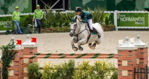 Bertram Allen riding Molly Malone in 2014. The 19 year old Wexford rider has qualified for the World Cup Final.