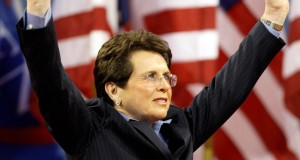 Billie Jean King - one of two openly gay athletes in the US delegation