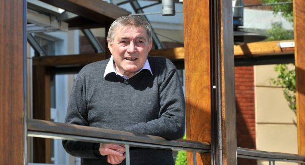 Bobby Tambling relaxes in the sunshine at Carrigaline Court Hotel, Co Cork this week;