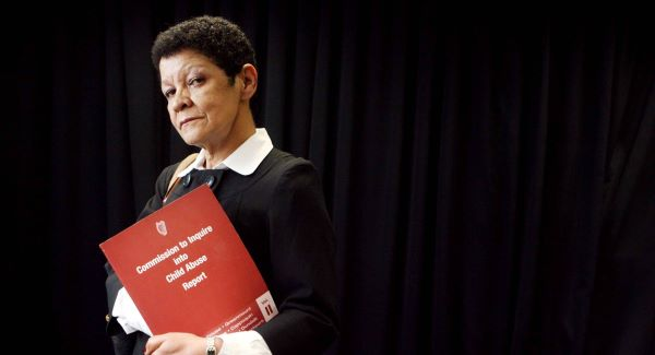 SILENT SHAME:  Christine Buckley with the 2009 Commission to Inquire into Child Abuse Report. Picture: James Horan/Photocall Ireland