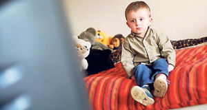 TV trouble: Telling a child the TV will give them square eyes iscommon but there are better ways to handle behaviour.