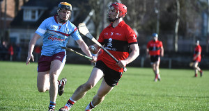 UCC's Brian Lawton (Castlemartyr) looks for a scoring opportunity in the Fitzgibbon Cup game against GMIT at the Mardyke, Cork. Picture: Larry Cummins.