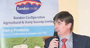 CEO Gerard Brickley, at the Bandon Co-op Dairy Seminar.