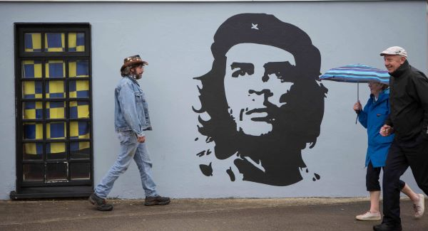 The mural of Che Guevara at the Marine Hotel in Kilkee, Co Clare. Picture: Eamon Ward