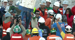 Jubilant scenes greeted the rescued miners