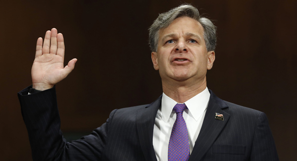 FBI Director Christopher Wray defends agency after Trump's attacks
