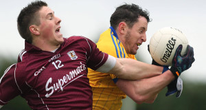 Roscommon's Ciarain Murtagh and Shane Walsh of Galway. Pic: Inpho