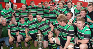 GLORY DAY: Clonmel celebrate their victory over Clanwilliam in the Munster Junior Cup final at Musgrave Park, Cork. Picture: Jim Coughlan