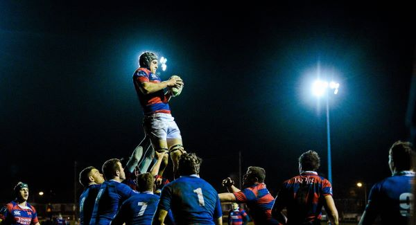 Conor O'Keeffe, Clontarf, wins a lineout.Picture: SPORTSFILE