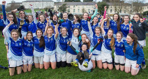 TOP CLASS: Coláiste Dun Iascaigh, Cahir, afterdefeating Scoil Mhuire,Carrick-on- Suir, in theMunster LGFA Post Primary Schools Senior 'A' football final in Clonmel.Picture: John D Kelly.