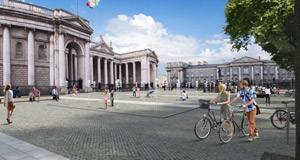 Plans for College Green pedestrian plaza rejected