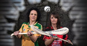 Senior finalists Collette Glennon, Mullagh (Galway) and Karen Atkinson, Oulart-the-Ballagh (Wexford).