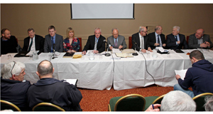 NEW ERA: Last night's Cork  County Board meeting, the first of 2015 and the first meeting to take place away from Páirc Uí Chaoimh since 1976, at Nemo Rangers, Trabeg.