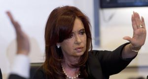 Argentinian President Cristina Fernandez De Kirchner