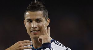 File photo of Real Madrid striker Cristiano Ronaldo. He received a red card in Saturday's La Liga clash with Cordoba.