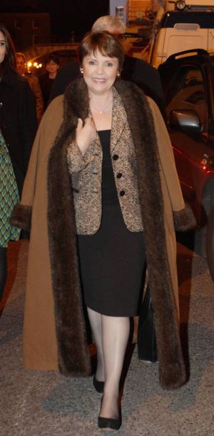 Dana arriving at Dublin Castle tonight