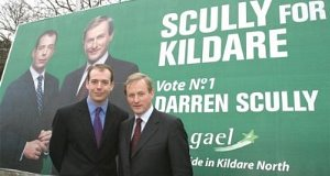 Darren Scully pictured with Enda Kenny