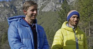 Tommy Caldwell (left) and Kevin Jorgeson made history as the first climbers to ever complete a free climb of the 3,000-feet Dawn Wall of the El Capitan rock formation. Picture: Ben Margot/AP