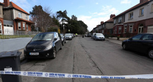 The scene of yestdrday's shooting. Picture: Photocall