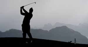 France's Edouard Bubios hits a tee shot during the first round of the Madeira Islands Open at Santo da Serra Golf Club in Funchal, Portugal. Picture: Ross Kinnaird