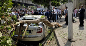 File photo of a previous carbomb in Egypt, in Sept 2014