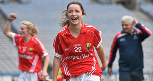 Eimear Scally scored a goal for Cork in the All-Ireland final against Dublin.