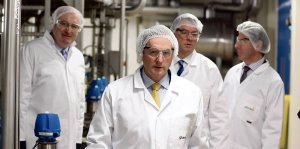 Taoiseach Enda Kenny takes a tour of Glanbia's new Nutritional Ingredients plant in Bellview Co. Kilkenny.