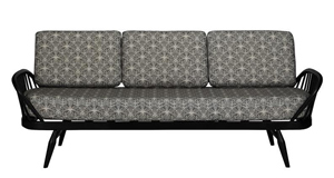 Ercol Studio Couch in Cummersdale Archive Print, Silver. John Lewis, €3,718.