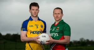 File photo of Roscommon captain Niall Carthy (left). Carty lifted the cup after yesterday's FBD Connacht final.
