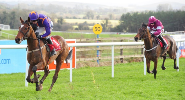 Wicklow Brave and Ruby Walsh easily see off Lieutenant Colonel at Punchestown last weekend. Picture: Healy Racing