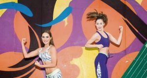 Models Roz Purcell and Madeline Mulqueen in Penney's growing exercise range