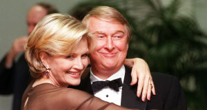 Mike Nichols pictured in 1997 with his wife, TV journalist Diane Sawyer  (AP Photo/Chris Pizzello).