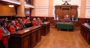 Lord Mayor Catherine Clancy addresses the city council following her election