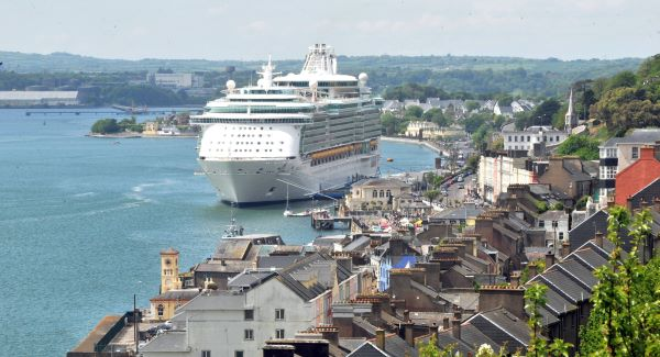 The cruise liner 'Independence of the Seas' berthed in Cobh last June. Picture: Dan Linehan