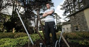 Peter O'Mahony during a break in training at Carton House.  Picture: Inpho/Dan Sheridan