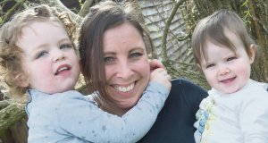 Nicola Sheehan with her children Mina and Gia. For most parents, a good salary or extended family, are vital if they are to stay in the workplace.