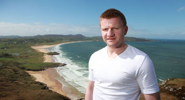 Paddy McConigley relaxes at Warden beach, Fanad in Co Donegal. Picture: Declan Doherty
