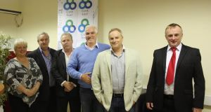 Catherine Murphy, Noel McGrath, John Squires, Ben Gilroy, Raymond Whitehead, and Joe Blake at the opening of the Cork East Office of Direct Democracy Ireland.