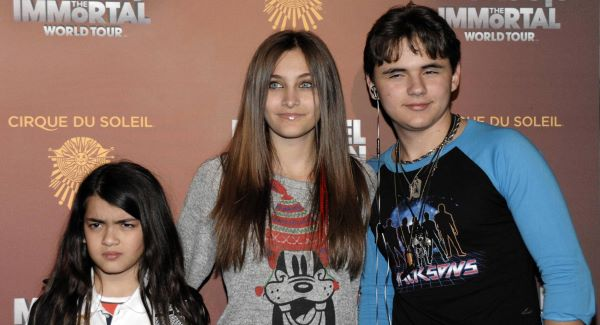 Blanket Jackson, Paris Jackson, and Prince Michael Jackson at the opening night of the Michael Jackson: The Immortal World Tour in LA in January 2012.